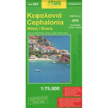 ORAMA 303 Cephalonia/Kefalonie 1:75 000 turistická mapa