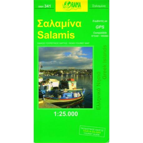 ORAMA 341 Salamis 1:25 000 turistická mapa