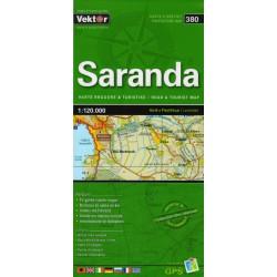 Vektor 380 Albánie Saranda 1:120 000 automapa