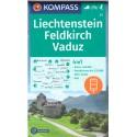 Kompass 21 Feldkirch, Vaduz 1:50 000 turistická mapa