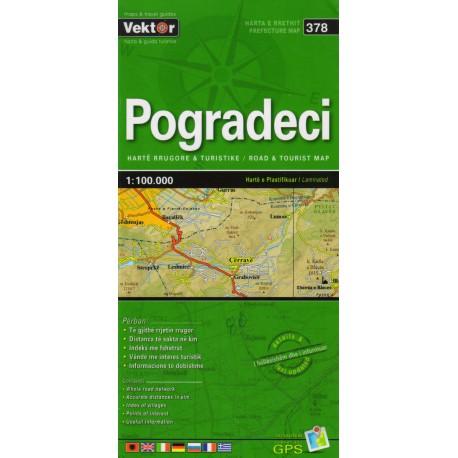 Vektor 378 Albánie Pogradeci 1:100 000 automapa
