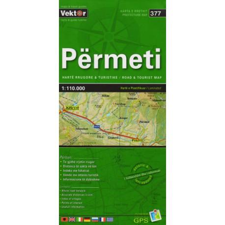 Vektor 377 Albánie Përmeti 1:110 000 automapa