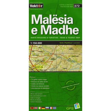 Vektor 372 Albánie Malësia e Madhe 1:150 000 automapa