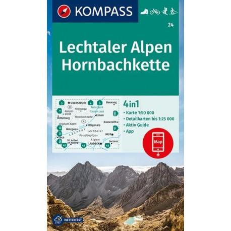 Kompass 24 Lechtaler Alpen, Hornbachkette 1:50 000