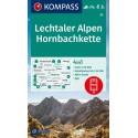 Kompass 24 Lechtaler Alpen, Hornbachkette 1:50 000 turistická mapa