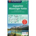 Kompass 25 Zugspitze, Mieminger Kette 1:50 000 turistická mapa