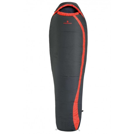 Ferrino Nightec 300 zimní spací pytel Microfibre černá/červená
