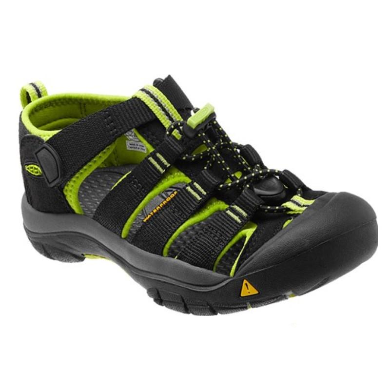 Keen Newport H2 Jr black lime green dětské outdoorové sandály i do vody 8d10239a87e