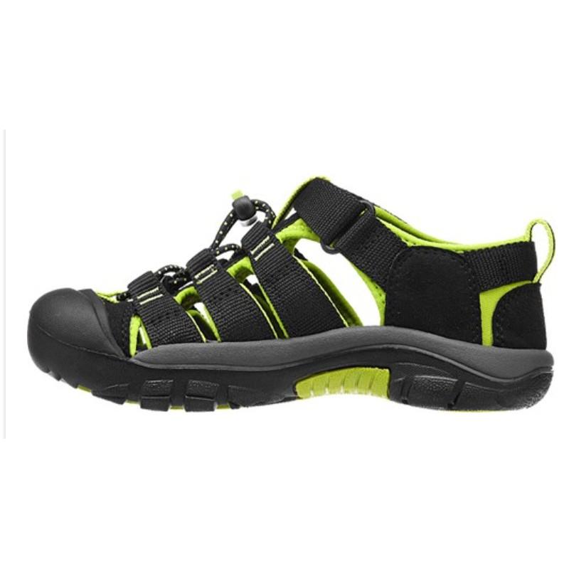 b9b75a433b4 ... Keen Newport H2 Jr black lime green dětské outdoorové sandály i do vody  (4 ...