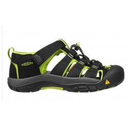 Keen Newport H2 Jr black/lime green dětské outdoorové sandály i do vody