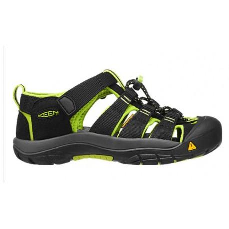 Keen Newport H2 Jr black/lime green dětské outdoorové sandály i do vody (1)