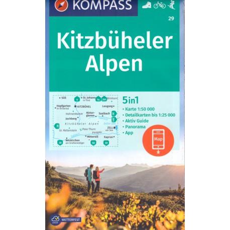 Kompass 29 Kitzbüheler Alpen 1:50 000