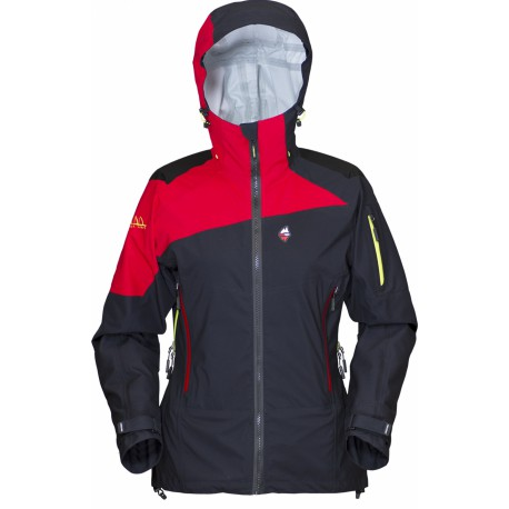 High Point Radical Lady Jacket black/red dámská nepromokavá bunda BlocVent Pro 3L DWR