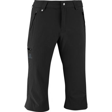 Salomon Wayfarer Capri M black 363387 pánské lehké softshellové tříčtvrteční kalhoty