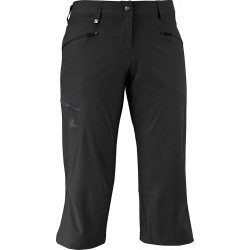 Salomon Wayfarer Capri W black 363402 dámské lehké softshellové tříčtvrteční kalhoty