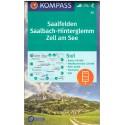 Kompass 30 Saalfelden, Saalbach-Hinterglemm, Zell am See 1:50 000 turistická mapa