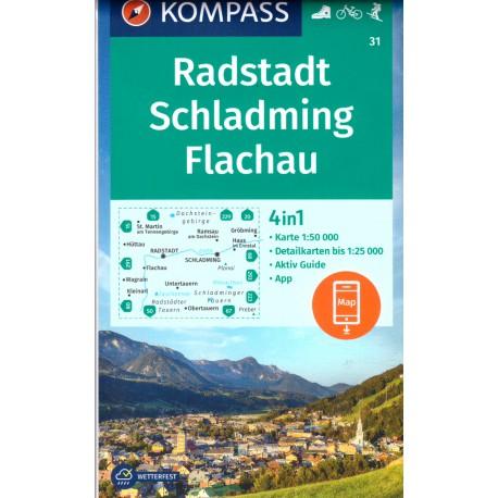 Kompass 31 Radstadt, Schladming, Flachau 1:50 000