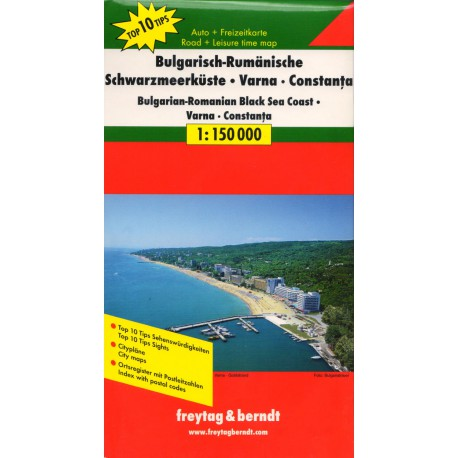 Freytag a Berndt Bulharsko-rumunské černomořské pobřeží 1:150 000 automapa