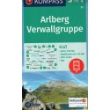 Kompass 33 Arlberg, Verwallgruppe 1:50 000 turistická mapa