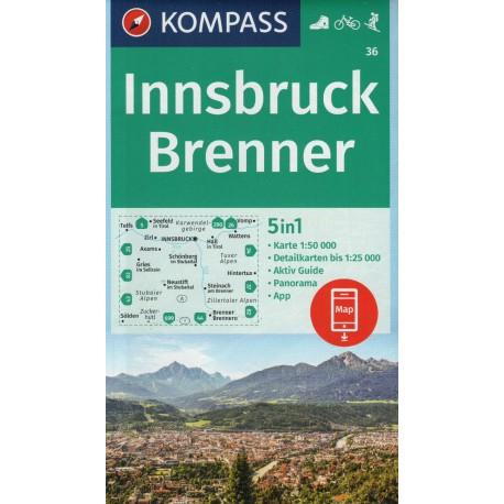 Kompass 36 Innsbruck, Brenner 1:50 000