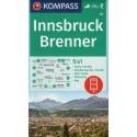 Kompass 36 Innsbruck, Brenner 1:50 000 turistická mapa