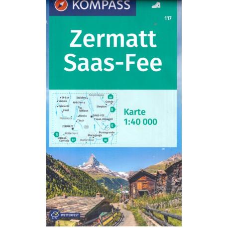 Kompass 37 Zillertaler Alpen, Tuxer Alpen 1:50 000