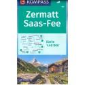 Kompass 37 Zillertaler Alpen, Tuxer Alpen 1:50 000 turistická mapa