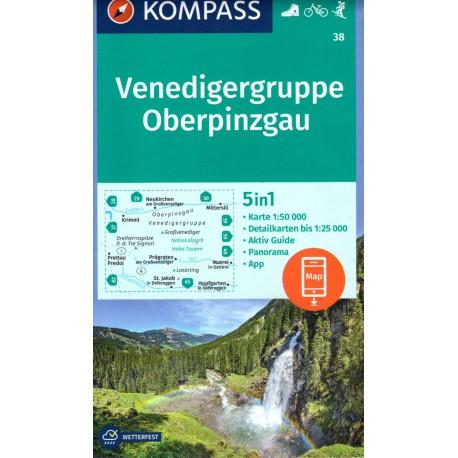 Kompass 38 Venedigergruppe, Oberpinzgau 1:50 000
