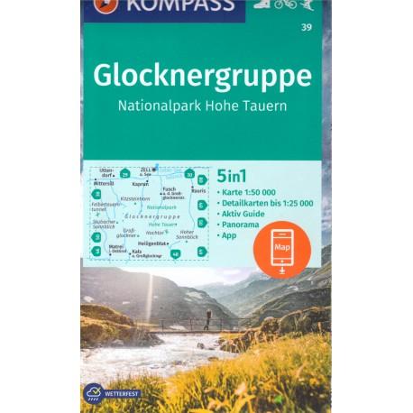 Kompass 39 Glocknergruppe, Hohe Tauern 1:50 000