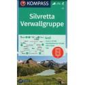 Kompass 41 Silvretta, Verwallgruppe 1:50 000 turistická mapa