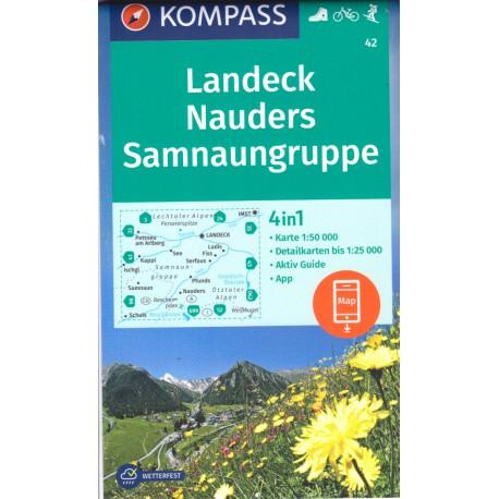 Kompass 42 Landeck, Nauders, Samnaungruppe 1:50 000