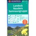 Kompass 42 Landeck, Nauders, Samnaungruppe 1:50 000 turistická mapa