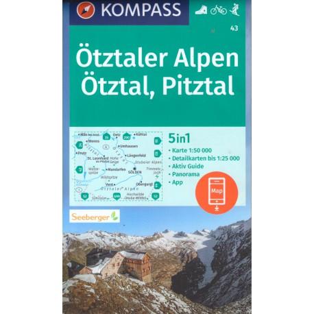 Kompass 43 Ötztaler Alpen 1:50 000