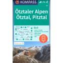 Kompass 43 Ötztaler Alpen, Ötztal, Pitztal 1:50 000 turistická mapa