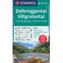 Kompass 45 Defereggental, Villgratental, Lasörlinggruppe 1:50 000 turistická mapa