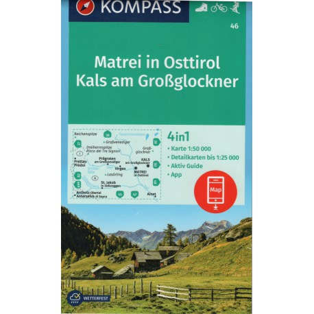 Kompass 46 Matrei in Osttirol, Kals am Grossglockner 1:50 000