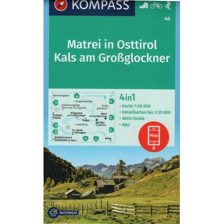 Kompass 46 Matrei in Osttirol, Kals am Grossglockner 1:50 000