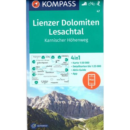 47 Lienzer Dolomiten, Lesachtal 1:50 000