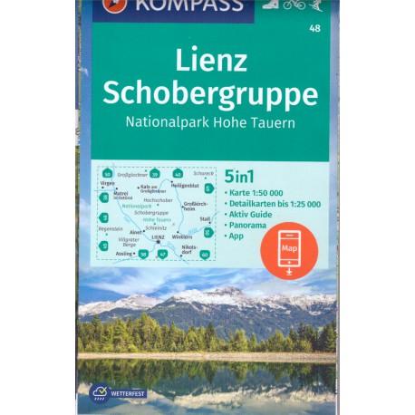 Kompass 48 Lienz, Schobergruppe, Hohe Tauern 1:50 000