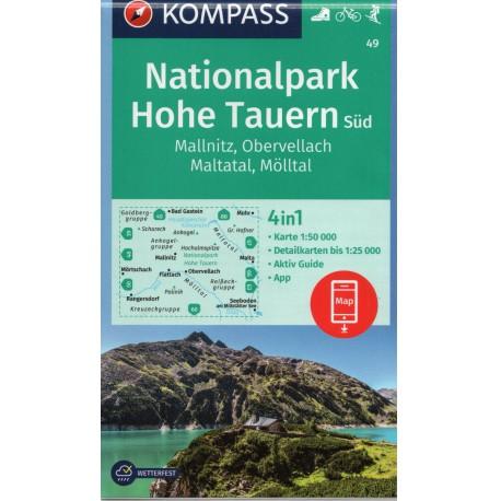 Kompass 49 NP Hohe Tauern - Süd, Mallnitz, Obervellach, Maltatal, Mölltal 1:50 000