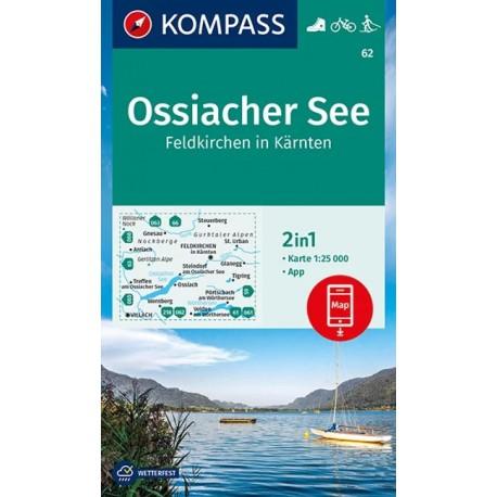 Kompass 62 Ossiacher See, Feldkirchen 1:50 000