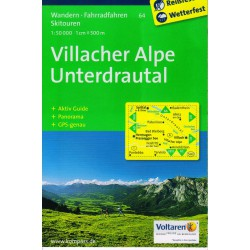 Kompass 64 Villacher Alpe, Unterdrautal 1:50 000