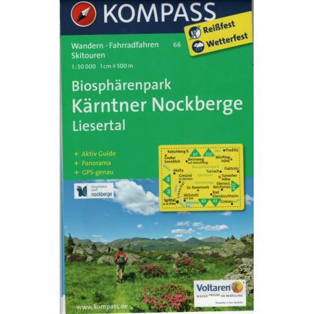 Kompass 66 Nockberge, Liesertal 1:50 000