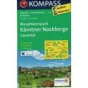 Kompass 66 Biosphärenpark, Kärntner Nockberge, Liesertal 1:50 000 turistická mapa