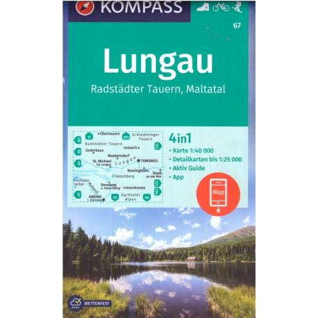 Kompass 67 Lungau, Radstädter Tauern 1:50 000