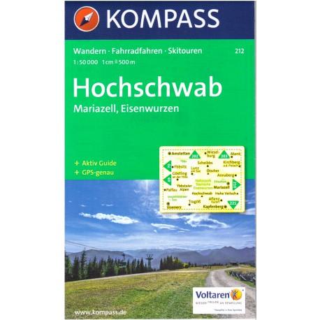 Kompass 212 Hochschwab, Mariazell, Eisenwurzen 1:50 000