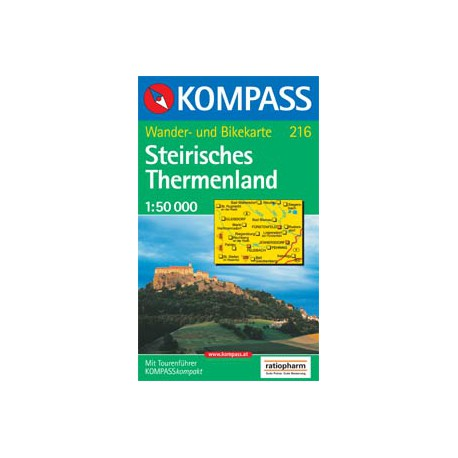 Kompass 216 Steirisches Thermenland 1:50 000