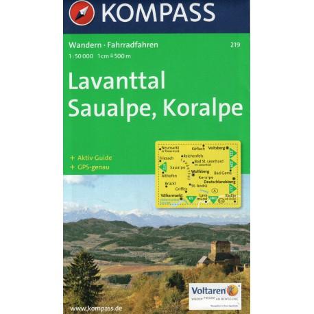Kompass 219 Lavanttal, Saualpe, Koralpe 1:50 000