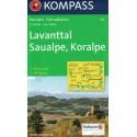 Kompass 219 Lavanttal, Saualpe, Koralpe 1:50 000 turistická mapa
