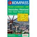 Kompass 224 Steirisches Weinland, Steinz, Sausal, Sulmtal 1:50 000 turistická mapa